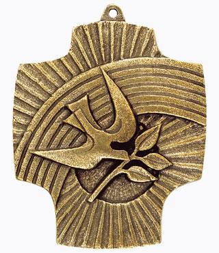 Bronzekreuz, 802006, Regenbogen/Taube, 9,5x7,5cm