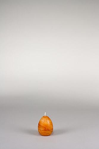 Eierkerze, 7 x 5 cm, 100% Bienenwachs, handgeknetet