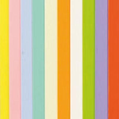 10 Verzierwachsplatten, Pastellfarben, 200 x 100 x 0,5 mm