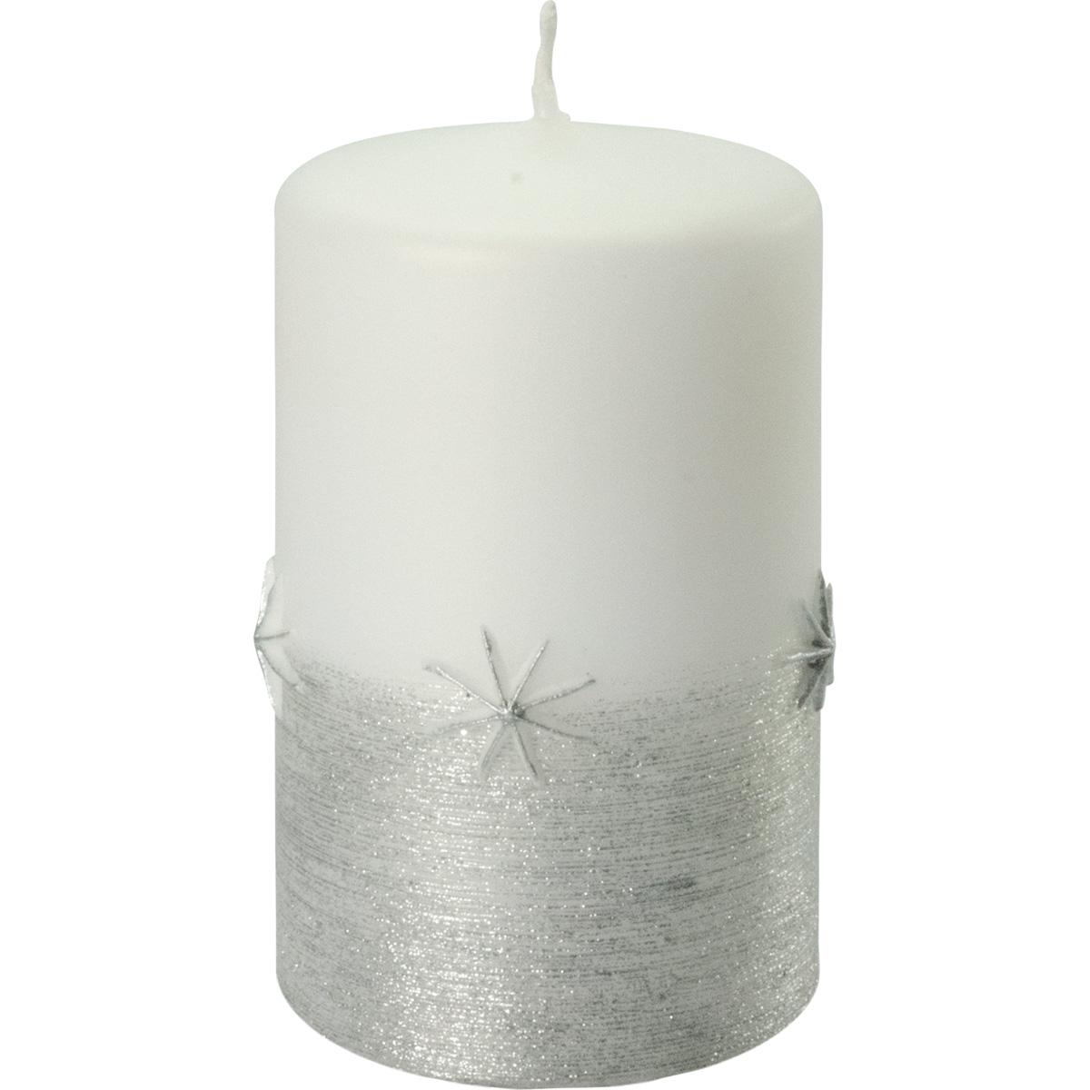 Weihnachtskerze, 3019, 10 x 6 cm, weiß, Serie Emira