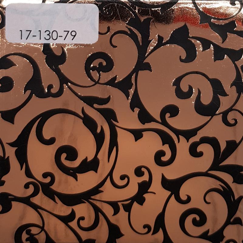 Verzierwachsplatte, Nr. 17-130-79, kupfer-schwarz, Geprägt, 200 x 100 x 0,5 mm