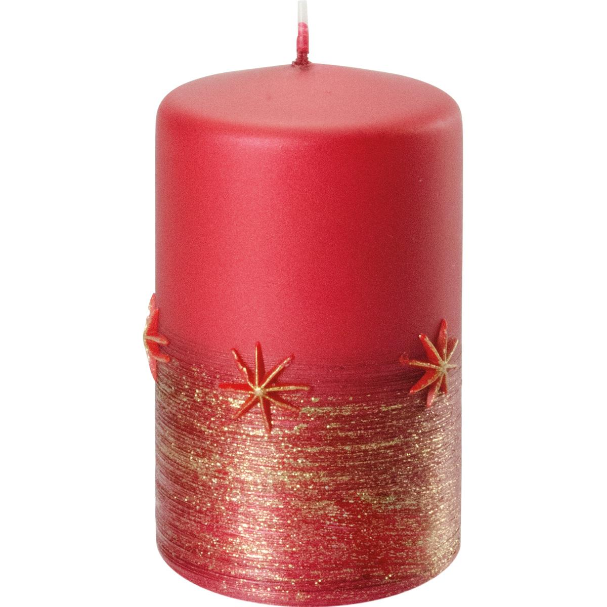 Weihnachtskerze, #2769, 10 x 6 cm, rubin, Serie Emira