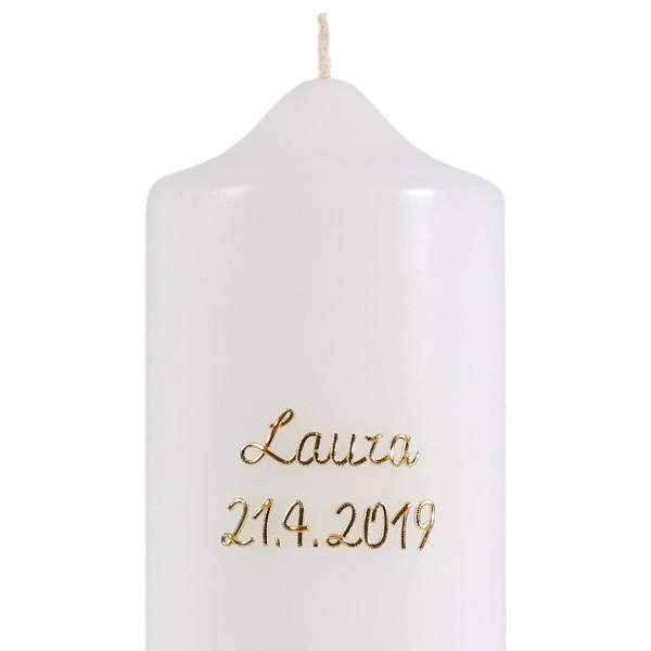 Namen und/oder Datum, Elegant, gold, pauschal je Kerze