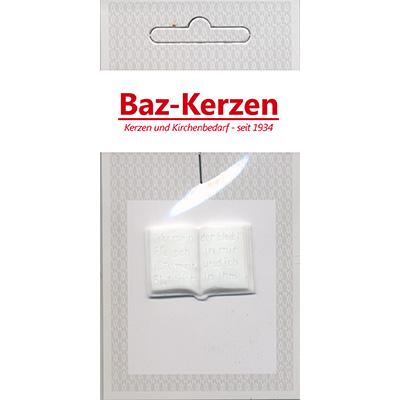 Verzierornamente, 1 Bibel, 20 x 31 mm, weiß