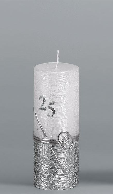 Silber-Hochzeitskerze, #2531, Rustikal 180x70