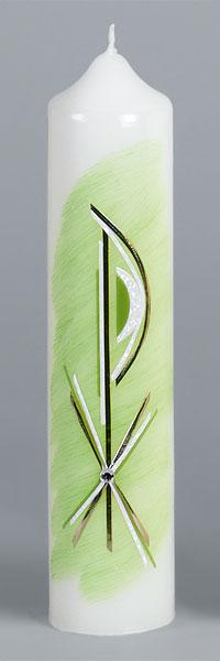 Liturgische Kerze, 2632, 265x60, Wachs PX, grün, ---Abverkauf---