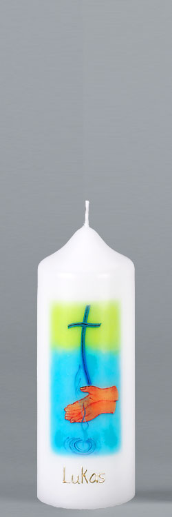 Patenkerze, P111, Das Wasser des Lebens, Größe/Farbe wählbar