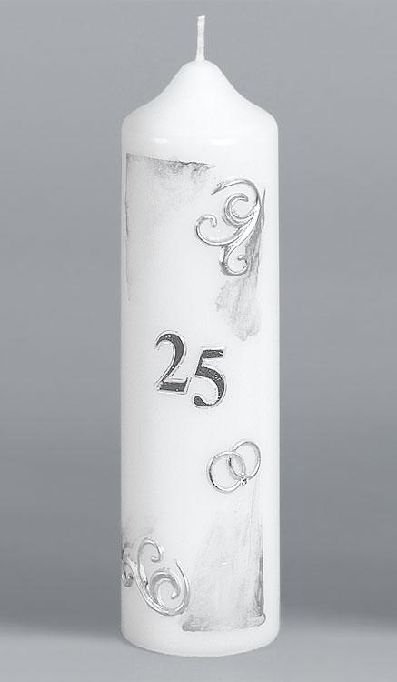 Silber-Hochzeitskerze, 2527, 220x60, ---Abverkauf---