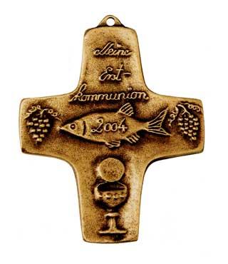 Bronzekreuz, 141, Fisch 20xx, h=10cm
