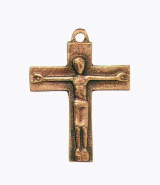 Umhängekreuz, UK14, mit Ring, ohne Kette, 4,5cm, (Kreuz)