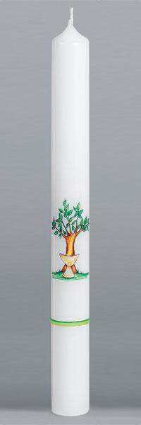 Kommunionkerze, 1978, 400x40, weiß, Fotodruck, ---Abverkauf---