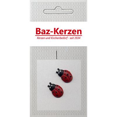 Verzierornamente, 1 paar Marienkäfer, 20x20, rot