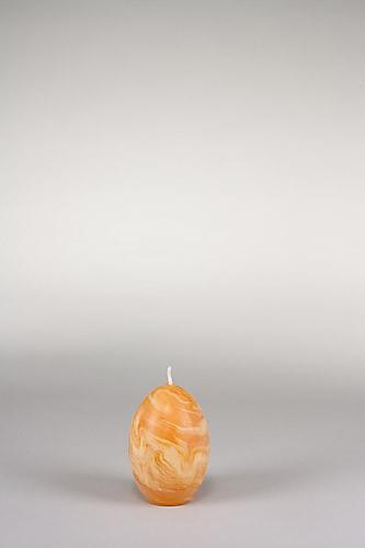 Eierkerze, 11 x 7 cm, 100% Bienenwachs, handgeknetet