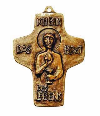Bronzekreuz, 134, Ich bin das Brot des Lebens, h=9,6cm