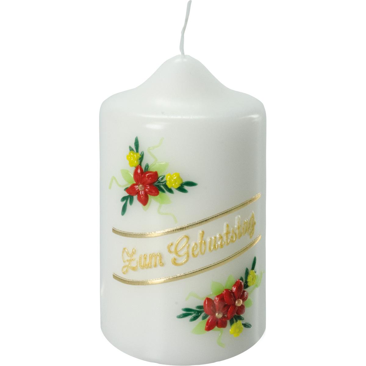 Geburtstagskerze, #1491, 125x70, Zum Geburtstag, Blume