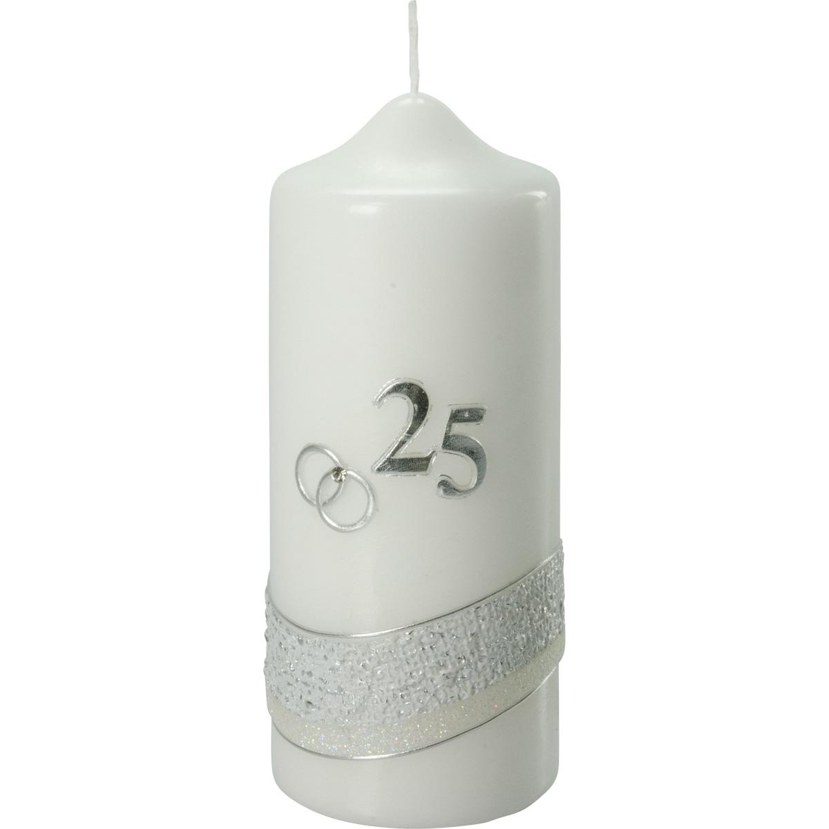 Silber-Hochzeitskerze, #2536, 175x70