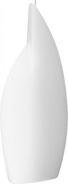 Form 13512, Flamme groß, 295 x 125 x 40 mm, weiß getaucht