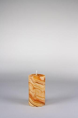 Stumpenkerze, 12,5 x 7 cm, 100% Bienenwachs, handgeknetet