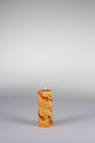 Stumpenkerze, 12,5 x 5 cm, 100% Bienenwachs, handgeknetet