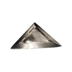 Leuchter Dreieck, silber matt, 11x11cm innen, [2]