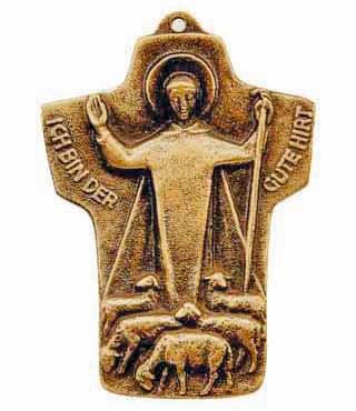 Bronzekreuz, 133, Der gute Hirt, h=9,5cm