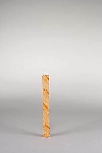 Stabkerze, 20 x 2 cm, 100% Bienenwachs, handgeknetet