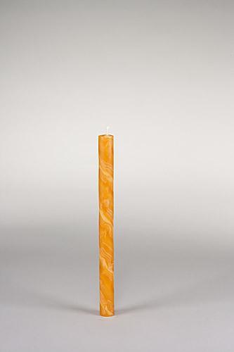 Stabkerze, 25 x 2 cm, 100% Bienenwachs, handgeknetet