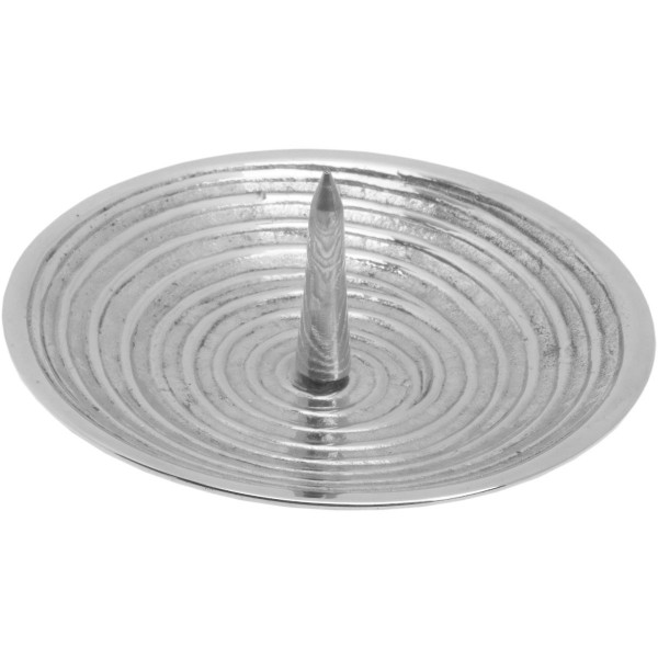 Rillen-Teller, gr. Dorn, silber, Ø 10 cm