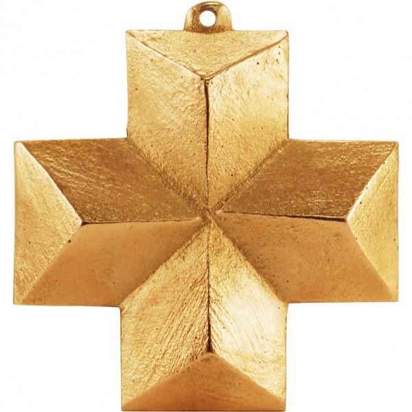 Bronzekreuz, schlichtes Kreuz, 7x7cm