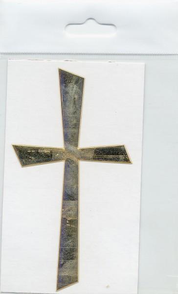 Wachsauflage, Kreuz 1, glanzgold, 105x57mm