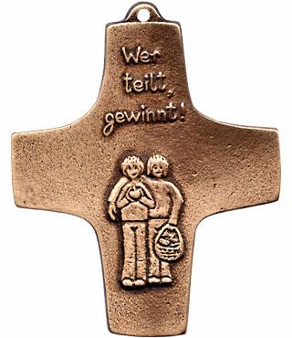 Bronzekreuz, 185, Wer teilt gewinnt, h=9,5cm