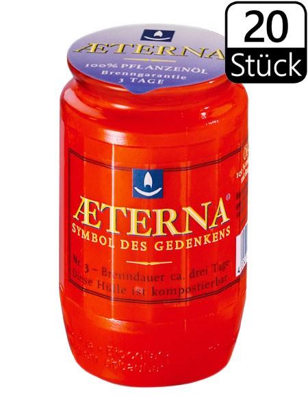 Öllichter, Aeterna Nr. 3, 3 Tage, rot, 100% Pflanzenöl