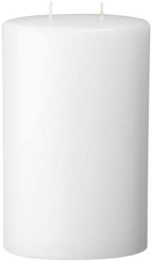 Form 13530, Oval abgerundet, 2 Dochte, 220 x 135 x 70 mm, weiß getaucht