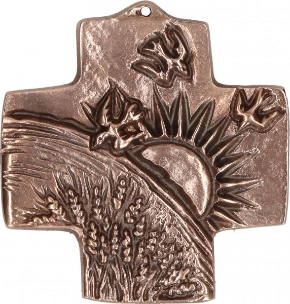 Bronzekreuz, 142223, Schöpfung, Höhe 7 cm