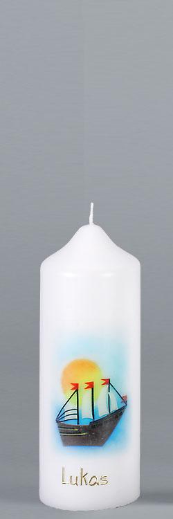Patenkerze, P100, Windjammer, Größe/Farbe wählbar