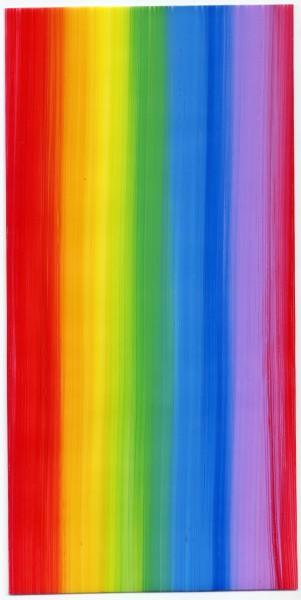 Verzierwachsplatte, Nr. 0975, Bemalt, 200 x 100 x 0,5 mm