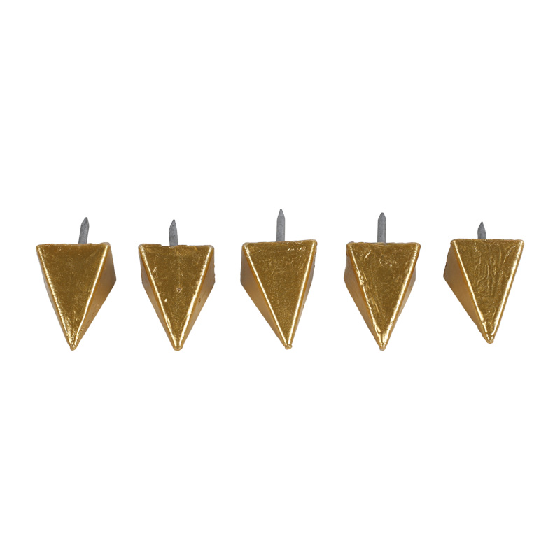 5 Wachsnägel, groß, gold, ~25x25x35mm