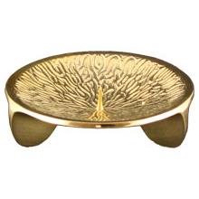 Dreifußleuchter Blitzstruktur, kl. Dorn, gold, Ø 13 cm