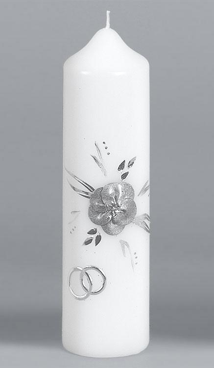 Silber-Hochzeitskerze, 902, 220x60, ---Abverkauf---
