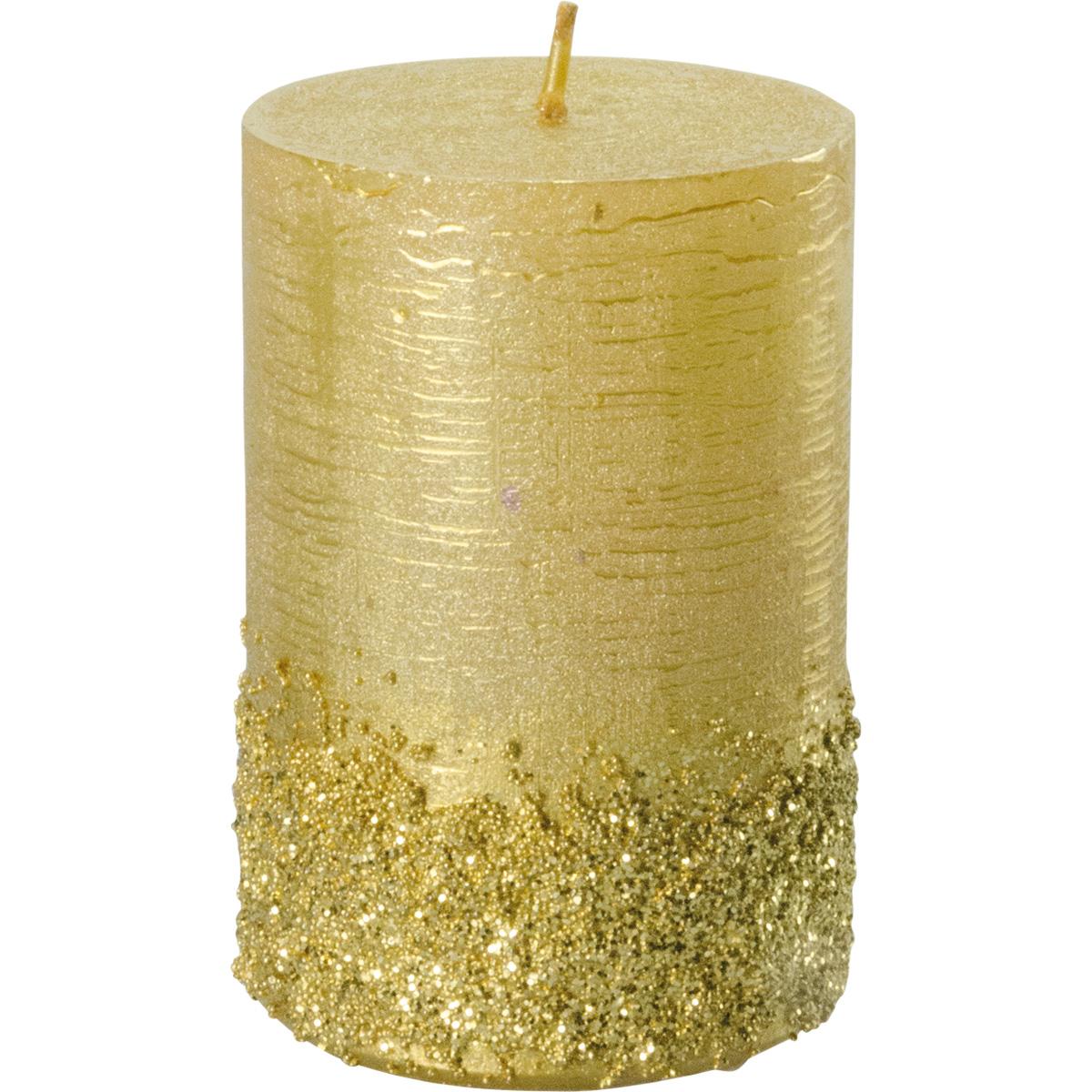 Weihnachtskerze, #3025, 90x60, gold, Serie Calla