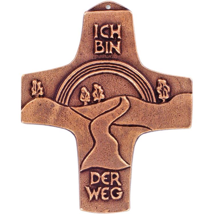 Bronzekreuz 142190, Ich bin der Weg, Höhe 10,5 cm