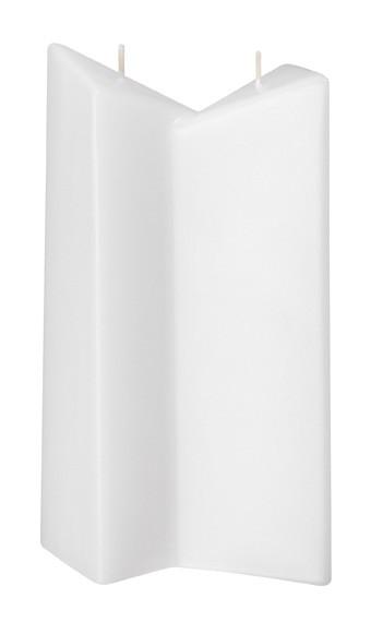 Form 13502, Doppeldreikant, 235 x 130 x 60 mm, weiß getaucht