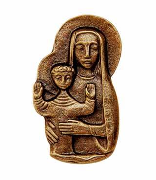 Bronzefigur, 156, Madonna, h=9,5cm