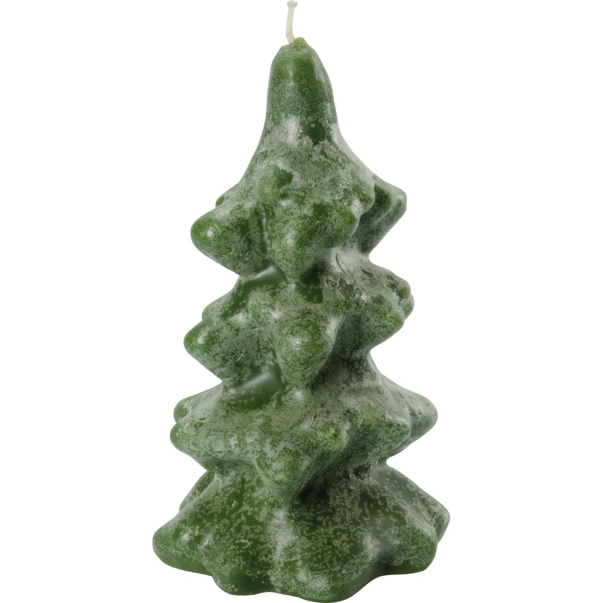 Weihnachtskerze, Tanne, 4-stufig, Höhe = 14 cm, jägergrün