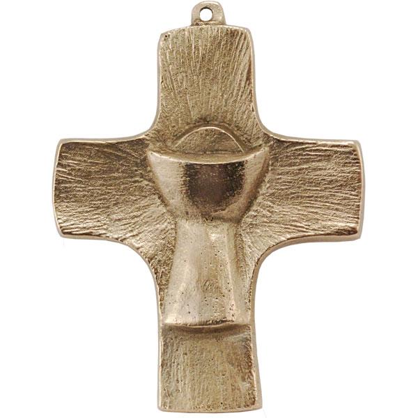Bronzekreuz, 802041, Kreuz mit Kelch, 9x7cm