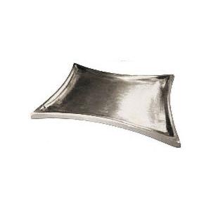 Trapezleuchter groß, silber matt, 16 x 9 cm