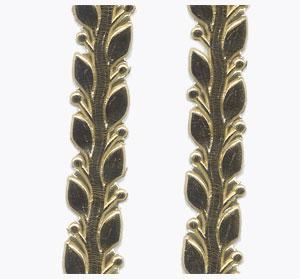 Wachsauflage, Blätterranke, gold, 255 x 10 mm