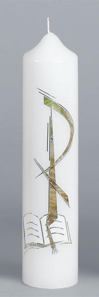 Liturgische Kerze, 2605, 265x60, Wachs, Buch, PX, ---Abverkauf---
