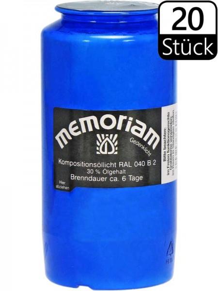 Grablichter, Memoriam Nr.736, ~ 6 Tage, blau