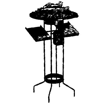 Opferlichtetisch, 44 Brennstellen, H=110cm, Ø=57cm, mit Opferstock